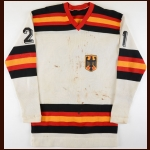 1978 Martin Wild Team West Germany World Championships Game Worn Jersey
