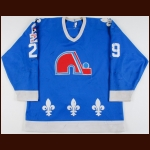 "1986-87 Steve Finn Quebec Nordiques Game Worn Jersey – ""Rendezvous '87"""