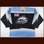 2003-04 Mike Scott Alaska Aces Game Worn Jersey - Alaska Aces HOF – ECHL Letter