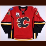 "2009-10 Garth Murray Calgary Flames Pre-Season Game Worn Jersey – ""30-year Anniversary"" – Team Letter"