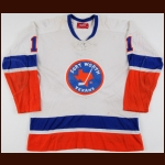 "1974-75 Glenn ""Chico"" Resch New York Islanders Game Worn Jersey – Rookie"