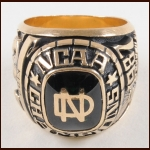 1987 Ian Kidd North Dakota Fighting Sioux 10k Gold NCAA Championship Ring – Ian Kidd Letter
