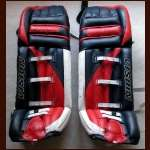 Ryan Miller Game Worn Goalie Pads - Autographed by Miller & Jim Craig
