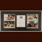 2010 Winter Classic Boston Bruins Autographed Matted & Framed Display