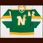 1987-88 Keith Acton Minnesota North Stars Game Worn Jersey