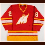 1985-87 Wade Campbell Moncton Golden Flames Game Worn Jersey