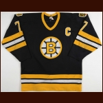 1986-87 Ray Bourque Boston Bruins Game Worn Jersey – #7 – 1st Norris Trophy - Photo Match