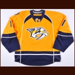 2013-14 David Legwand Nashville Predators Game Worn Jersey - Photo Match