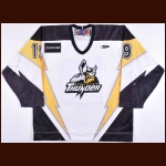 2009-10 Mike Bayrack Stockton Thunder Game Worn Jersey – ECHL Letter