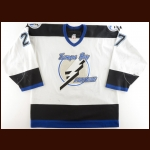 2002-03 Tim Taylor Tampa Bay Lightning Game Worn Jersey – Photo Match