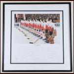 "Bill White's 1972 Summit Series ""O'Canada"" Lithograph by Daniel Parry – Limited Edition #17 of 40 PE – Autographed  - The Bill White Collection – Daniel Parry Letter - Bill White Letter"