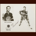 Bob Dillabough Oakland Seals Autographed 8x10 B&W Photo – Deceased
