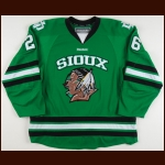 2010-11 Brett Hextall University of North Dakota Game Worn Jersey - Photo Match – Team Letter