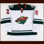 2014-15 Thomas Vanek Minnesota Wild Game Worn Jersey - Photo Match