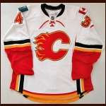 2008-09 Dan Ryder Calgary Flames Game Issued Jersey - Team Letter