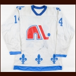 1979-80 Pierre Plante Quebec Nordiques Game Worn Jersey - Inaugural NHL Season