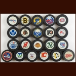 Early 1980's Vintage Inglasco Puck Group of (21) – Includes All NHL Teams in original box from Inglasco