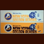 1973-74 WHA New York Golden Blades Bumper Stickers Set of 2