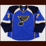 2008-09 Jay McKee St. Louis Blues Game Worn Jersey - Photo Match