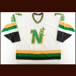 1990-91 Mike Modano Minnesota North Stars Game Worn Jersey – 2nd NHL Season – The Terrence Murphy Collection – Joe Murphy Letter
