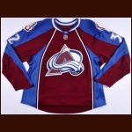 2007-08 Dale Purinton Colorado Avalanche Pre-Season Game Worn Jersey – Team Letter