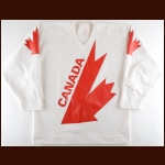 1984 Michel Goulet Team Canada Canada Cup Game Worn Jersey - Photo Match