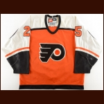 1997-98 Shjon Podein Philadelphia Flyers Game Worn Jersey - Photo Match