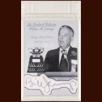 William M. Jennings Autographed Card - The Broderick Collection - Deceased