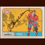 1968-69 OPC J.C. Tremblay Montreal Canadiens Autographed Card – Deceased