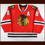 2015-16 Patrick Kane Chicago Blackhawks Game Worn Jersey - 100th Point Jersey - Hart Trophy - Art Ross Trophy - Ted Lindsay Award - 1st Team NHL All Star - Photo Match – Team Letter