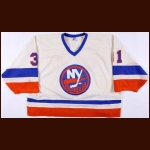1984-85 Billy Smith New York Islanders Game Worn Jersey - Photo Match