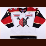 "2011-12 Devin Didiomete Wheeling Nailers Game Worn Jersey – ""20-year Anniversary"" – ECHL Letter"