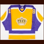 1984-85 Jim Fox Los Angeles Kings Game Worn Jersey