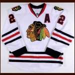 2013-14 Duncan Keith Chicago Blackhawks Game Worn Jersey - Norris Trophy - 1st Team All Star - Photo Match – Team Letter