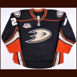 "2013-14 Kyle Palmieri Anaheim Ducks Game Worn Jersey – Alternate – ""20-year Anniversary"" - Photo Match"