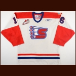 "2004-05 J.P. Szaszkiewicz Spokane Chiefs Game Worn Jersey – Rookie – ""American Flag"""