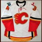 2007-08 Dan Ryder Calgary Flames Game Issued Jersey - Team Letter
