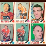 1969-70 OPC Philadelphia Flyers Autographed Card Group of 13 – Reg Fleming (Deceased)