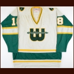 1978-79 Marty Howe WHA New England Whalers Game Worn Jersey - Photo Match