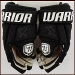 Zdeno Chara Boston Bruins Black Warrior Game Worn Gloves – Autographed