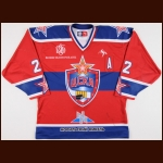 2007-08 Konstantin Korneev UCKA Central Red Army Game Worn Jersey