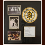 Milt Schmidt Boston Bruins Autographed Matted & Framed Display – Deceased