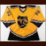 1996-97 Rick Tocchet Boston Bruins Game Worn Jersey - Alternate