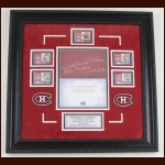 Montreal Canadiens Hand Signed Christmas Card Presentation Piece - 2009 - Guy Lafleur, Serge Savard, Henri Richard, Yvan Cournoyer & Jean Beliveau (Deceased)