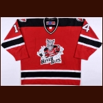 2002-03 Mike Rupp Albany River Rats Game Worn Jersey – Team Letter