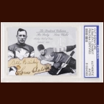 "Irvine ""Ace"" Bailey & Lorne Chabot Autographed Card - The Broderick Collection - Deceased"
