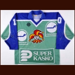 Early 1990's Vesa Pietarinen Jokerit Helsinki Under 20 National Team Game Worn Jersey