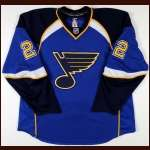 2007-08 Brad Boyes St. Louis Blues Game Worn Jersey - Team Letter