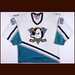 1998-99 Stephen Peat Anaheim Mighty Ducks Pre-Season Worn Jersey