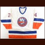 1989-90 Ken Baumgartner New York Islanders Game Worn Jersey – The Terrence Murphy Collection – Joe Murphy Letter